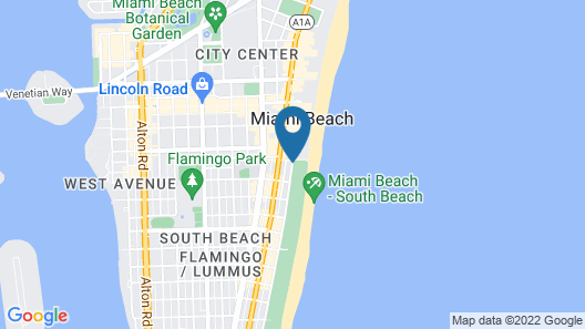 The Betsy - South Beach Map