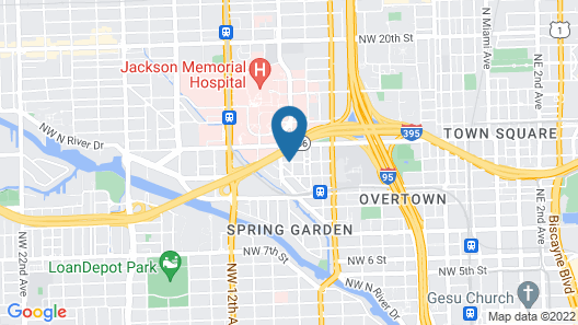 SpringHill Suites Miami Downtown/Medical Center Map