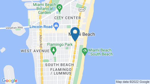 AxelBeach Miami South Beach – Adults Only Map