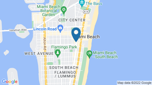 Courtyard by Marriott Miami Beach-South Beach Map