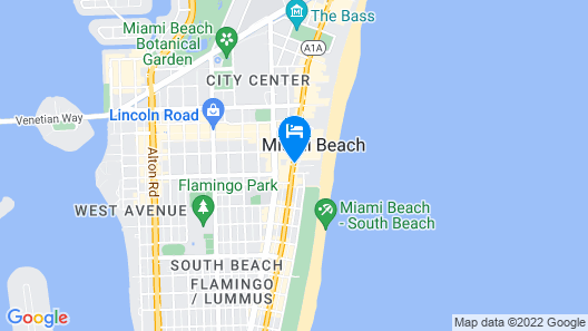 Royal Palm South Beach Miami, a Tribute Portfolio Resort Map