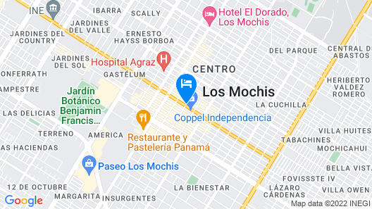 Hotel del Valle Map