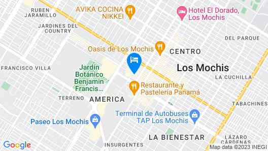 Hotel Corintios Map