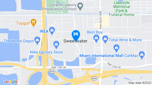 Homewood Suites by Hilton Miami Dolphin Mall Map
