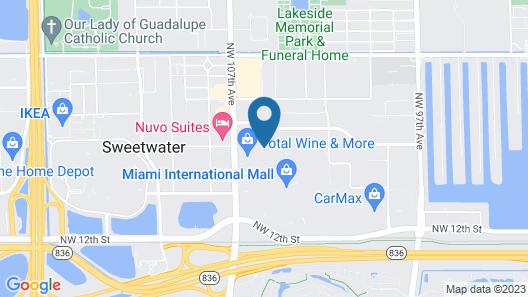 Holiday Inn Express Doral Miami, an IHG Hotel Map
