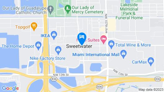 Hilton Garden Inn Miami Dolphin Mall Map