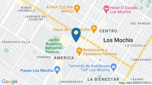 Best Western Plus Los Mochis Map