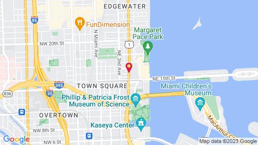 Hilton Miami Downtown Map
