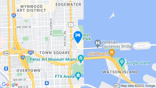Miami Marriott Biscayne Bay Map
