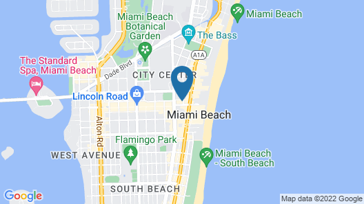 Albion South Beach Hotel Map