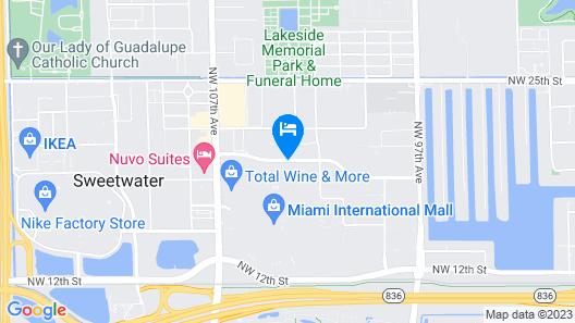 DoubleTree by Hilton Miami - Doral, FL Map
