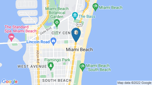 Sagamore Hotel South Beach - An All Suite Hotel Map