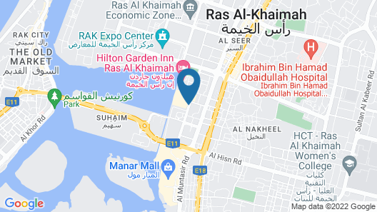 Citymax Hotel Ras Al Khaimah Map
