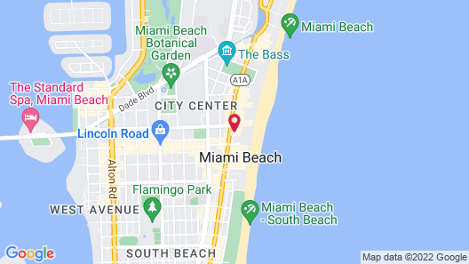 National Hotel, An Adult Only Oceanfront Resort Map