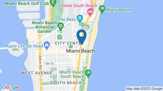 Delano South Beach Miami Map
