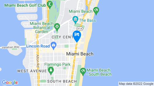 Hampton Inn Miami South Beach - 17th Street Map