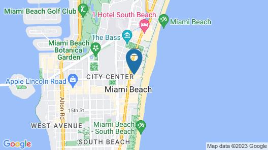 Kimpton Surfcomber Hotel Map