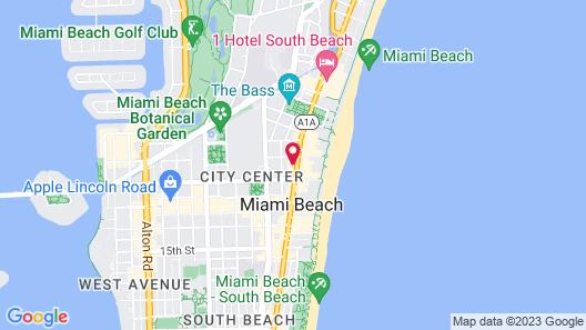 Catalina Hotel & Beach Club, a South Beach Group Hotel Map