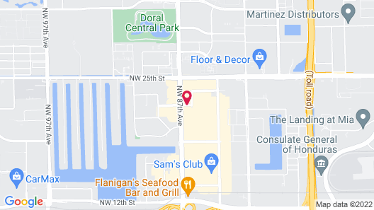 Extended Stay America Miami - Airport - Doral - 87th Ave S. Map