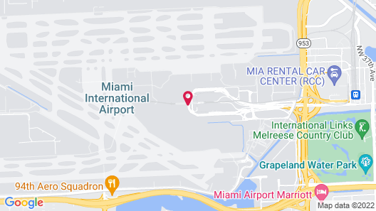 Miami International Airport Hotel Map