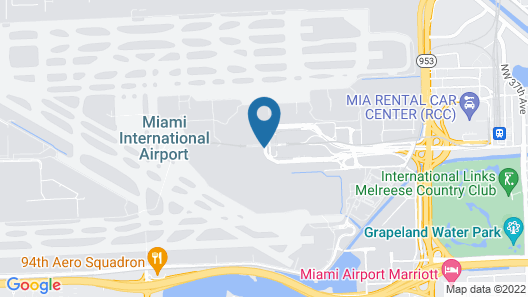 Miami International Airport Hotel Map