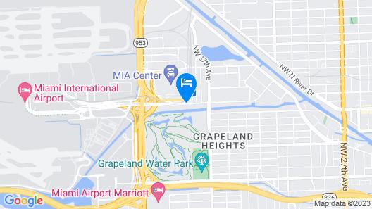Sheraton Miami Airport Hotel & Executive Meeting Center Map