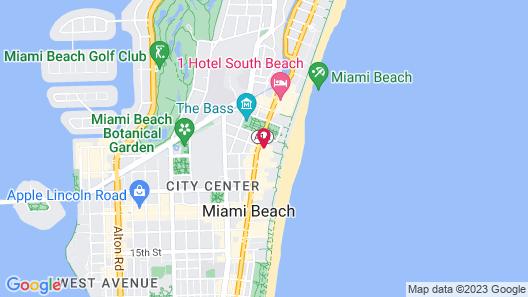 Townhouse Hotel Miami Beach Map