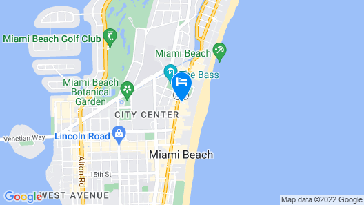 Townhouse Hotel Miami Beach Map