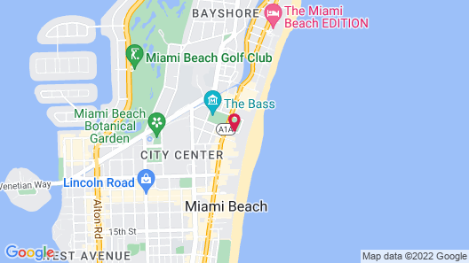Seagull Hotel Miami Beach Map