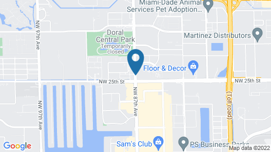 Intercontinental at Doral Miami Map