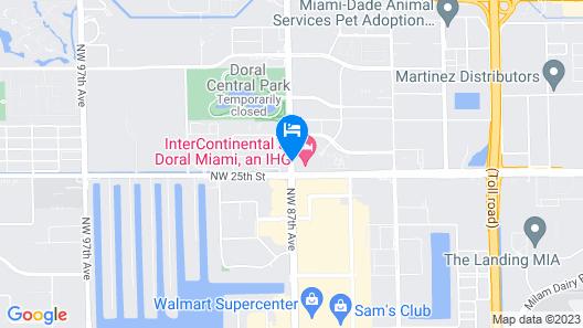 Intercontinental at Doral Miami Map