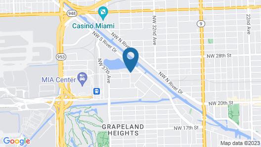 EVEN Hotel Miami - Airport Map
