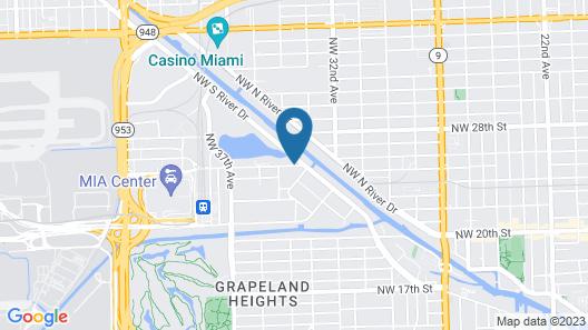 Radisson RED Miami Airport Map