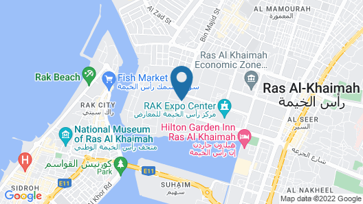 Action Hotel Ras Al Khaimah Map