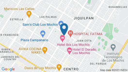 Ibis Los Mochis Map