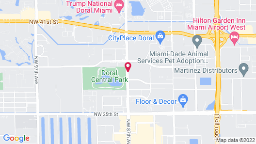 Staybridge Suites Miami Doral Area Map
