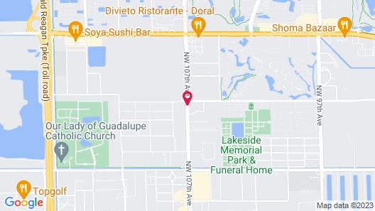 Aloft Miami Doral Map