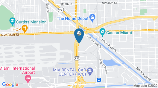 Red Roof Inn PLUS+ Miami Airport Map
