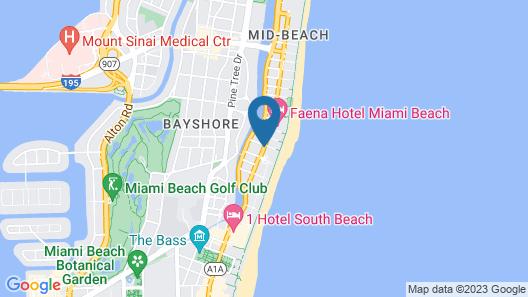 Hilton Garden Inn Miami South Beach Map