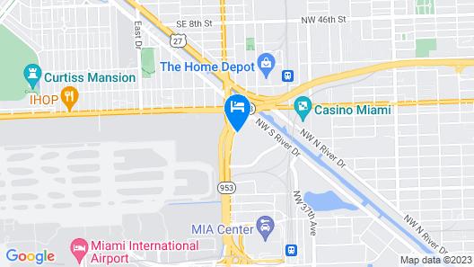 La Quinta Inn & Suites by Wyndham Miami Airport East Map