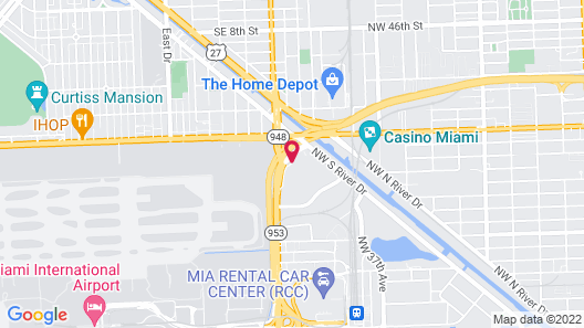 Hyatt Place Miami Airport-East Map