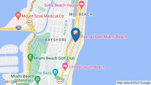 Hotel Riu Plaza Miami Beach Map