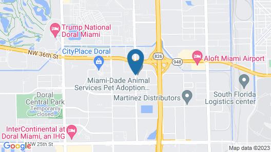 Hampton Inn Miami Airport West Map