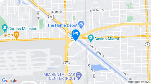 Embassy Suites by Hilton Miami International Airport Map