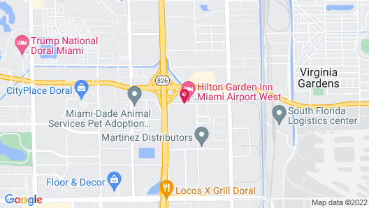Homewood Suites by Hilton Miami Airport West Map
