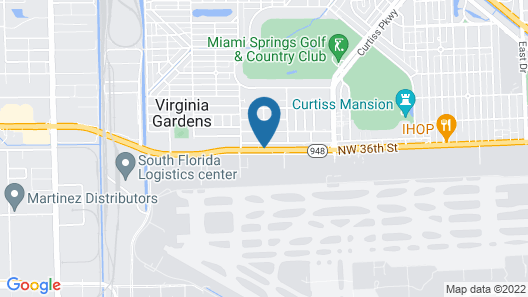 Candlewood Suites Miami Intl Airport-36th St, an IHG Hotel Map