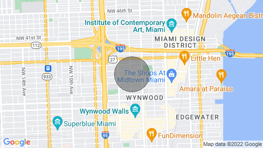 Modern 2 Bedroom in the Heart of Wynwood Art District Map