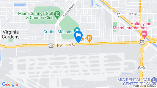 Clarion Inn & Suites Miami International Airport Map