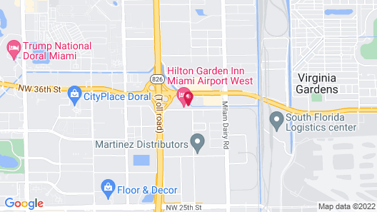 Hilton Garden Inn Miami Airport West Map