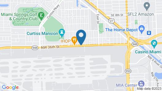 Ramada by Wyndham Miami Springs/Miami International Airport Map